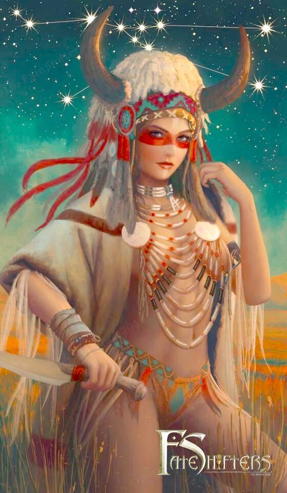 Kim Ngưu hóa người đẹp thổ dân da đỏ hoang dã, bốc lửa và góc cạnh.