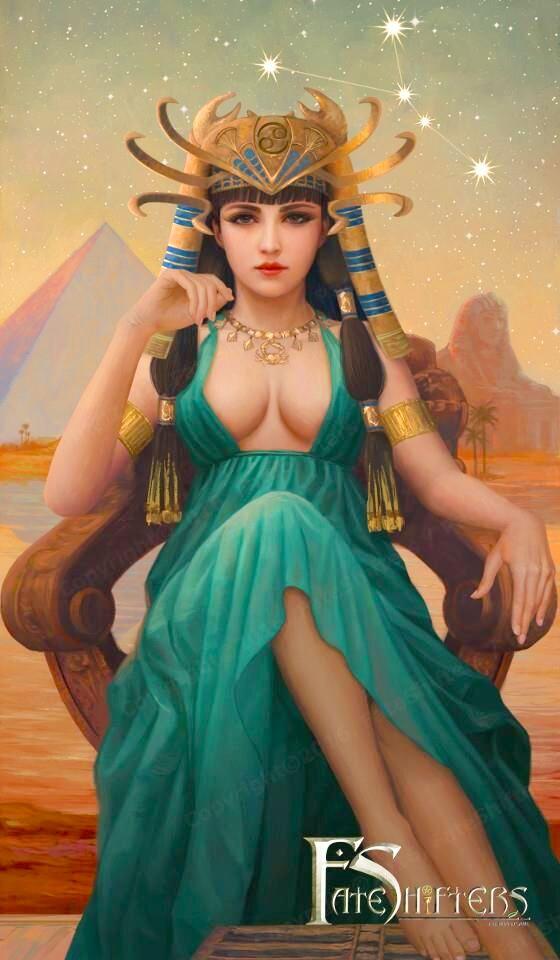 Cự Giải đẹp trang nhã, sang trọng với tạo hình nữ hoàng Ai Cập.