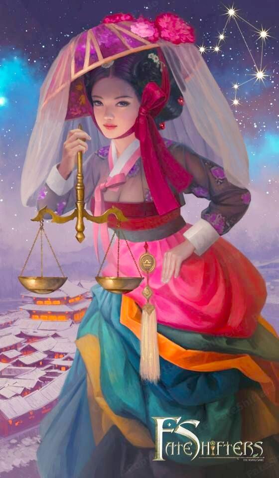 Thiên Bình đẹp băng thanh ngọc khiết với trang phục Hanbok, đại diện cho xứ sở kim chi Hàn Quốc.