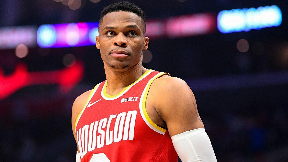Westbrook trong màu áo Houston Rockets.