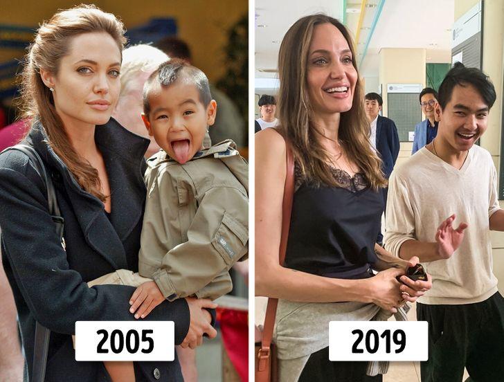 6 con của Angelina Jolie và Brad Pitt thay đổi thế nào? - 1