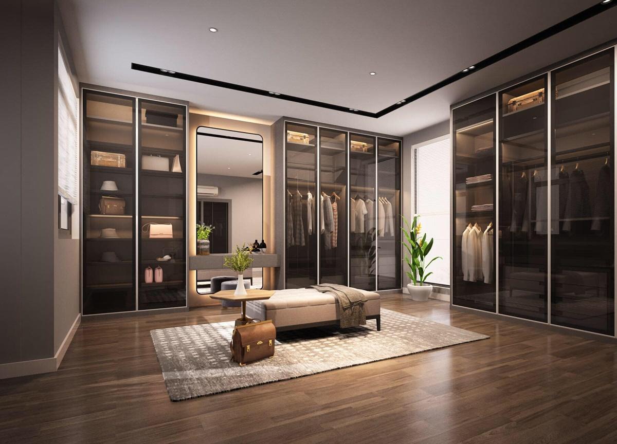 Căn nhà của Lê Hoàng thiết kế theo phong cách mid century, hướng tới những thiết kế nội thất tối giản nhưng gấp đôi công năng sử dụng.