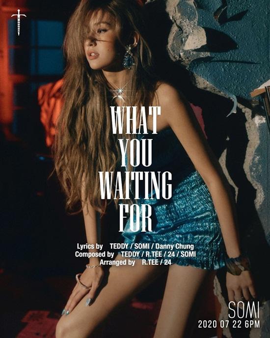 Jeon Somi gợi cảm trong ảnh teaser ca khúc comeback - What you waiting for - do cô nàng đồng sáng tác.