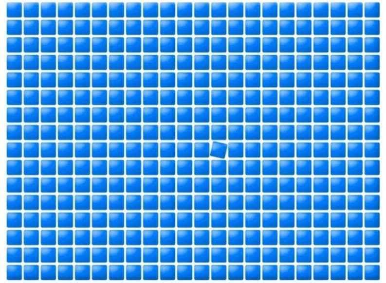 Mắt tinh tìm hình lệch chuẩn trong 10 giây