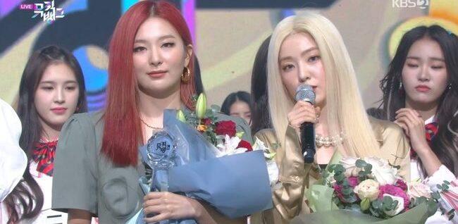 Seul Gi - Irene chiến thắng trên Music Bank.