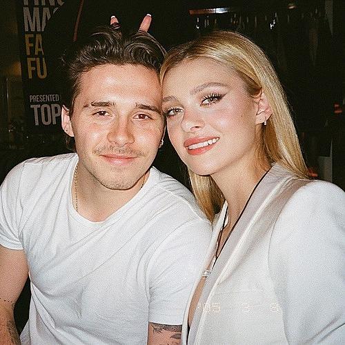 Brooklyn Beckham và vợ sắp cưới Nicola.