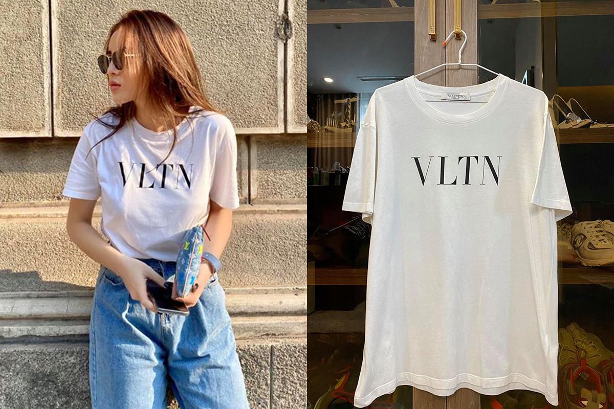 Valentino VLTN print T-shirt 98% size S Retaik : $485 - Sale 5.5tr