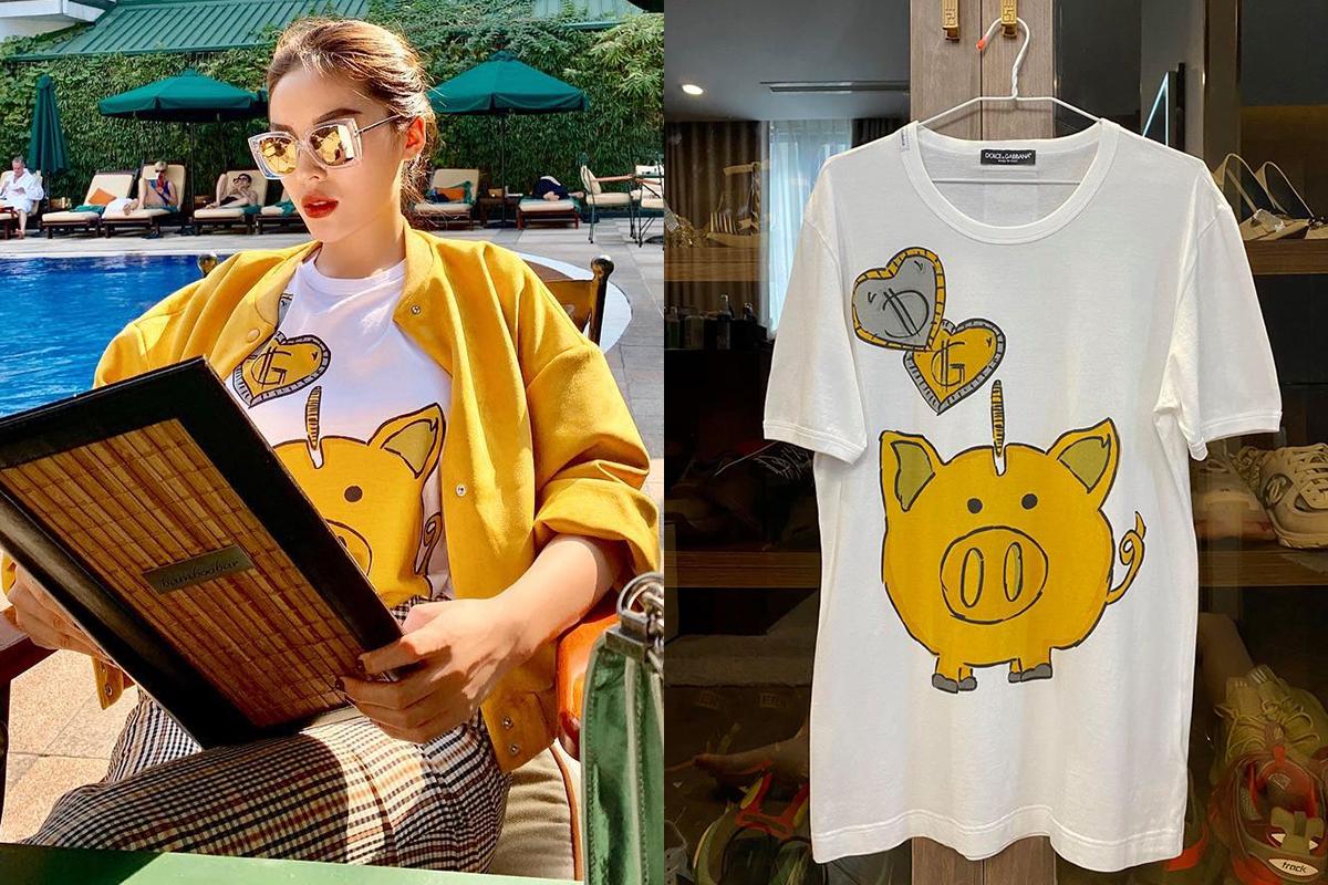 D&G Piggy Bank T-shirt 99% size XS (for men) Retail : $295 - Sale 3.2tr