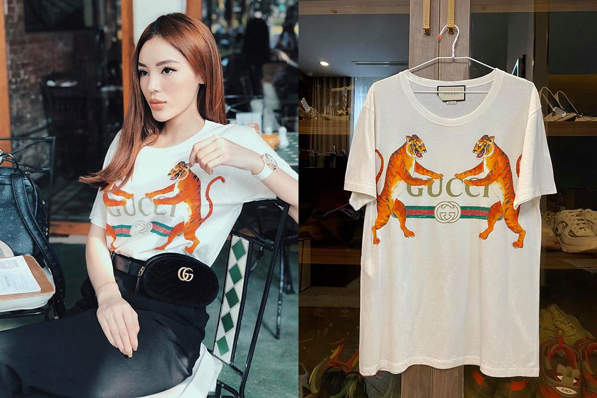Gucci Gucci-logo With Tigers T-shirt 99% size XS (for men) Retail : $674 - Sale 8tr