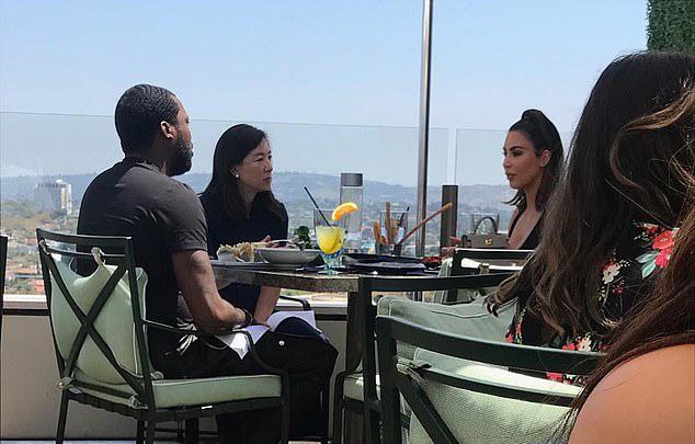 Đây được cho là cuộc gặp gỡ giữa Kim và Meek Mill mà Kanye West nhắc tới.