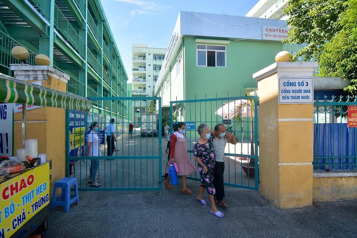 Bệnh viện Đà Nẵng trước khi thực hiện lệnh cách ly. Ảnh: Khôi Trần.