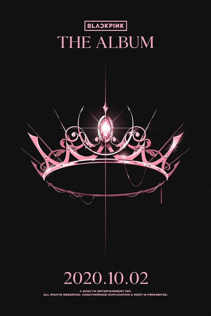 Poster nhá hàng cho The Album, phát hành 2/10/2020 của Black Pink.