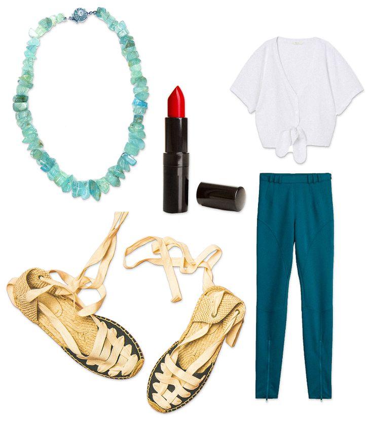 Gợi ý trang phục, phụ kiện và màu son phù hợp với tóc nâu sẫm.