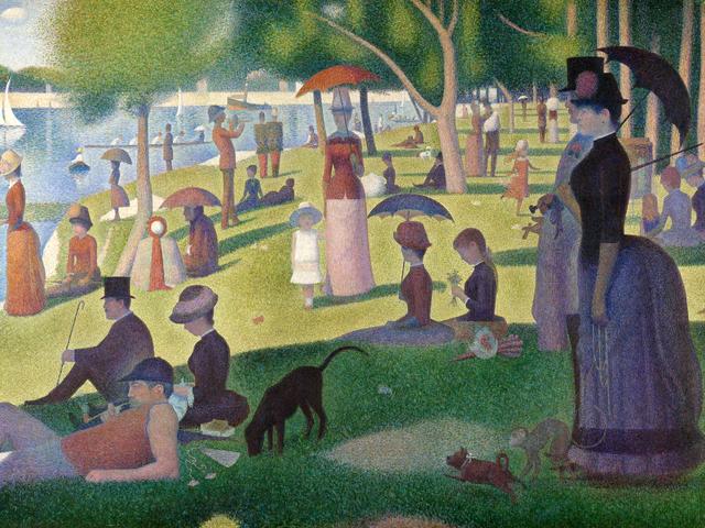 Một chiều chủ nhật trên đảo La Grande Jatte của Georges Seurat