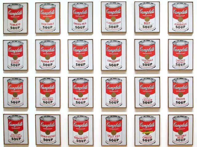 Lon súp Campbells của Andy Warhol