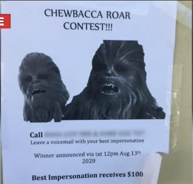 Người đàn ông mở cuộc thi Chewbacca sau khi bị đá.