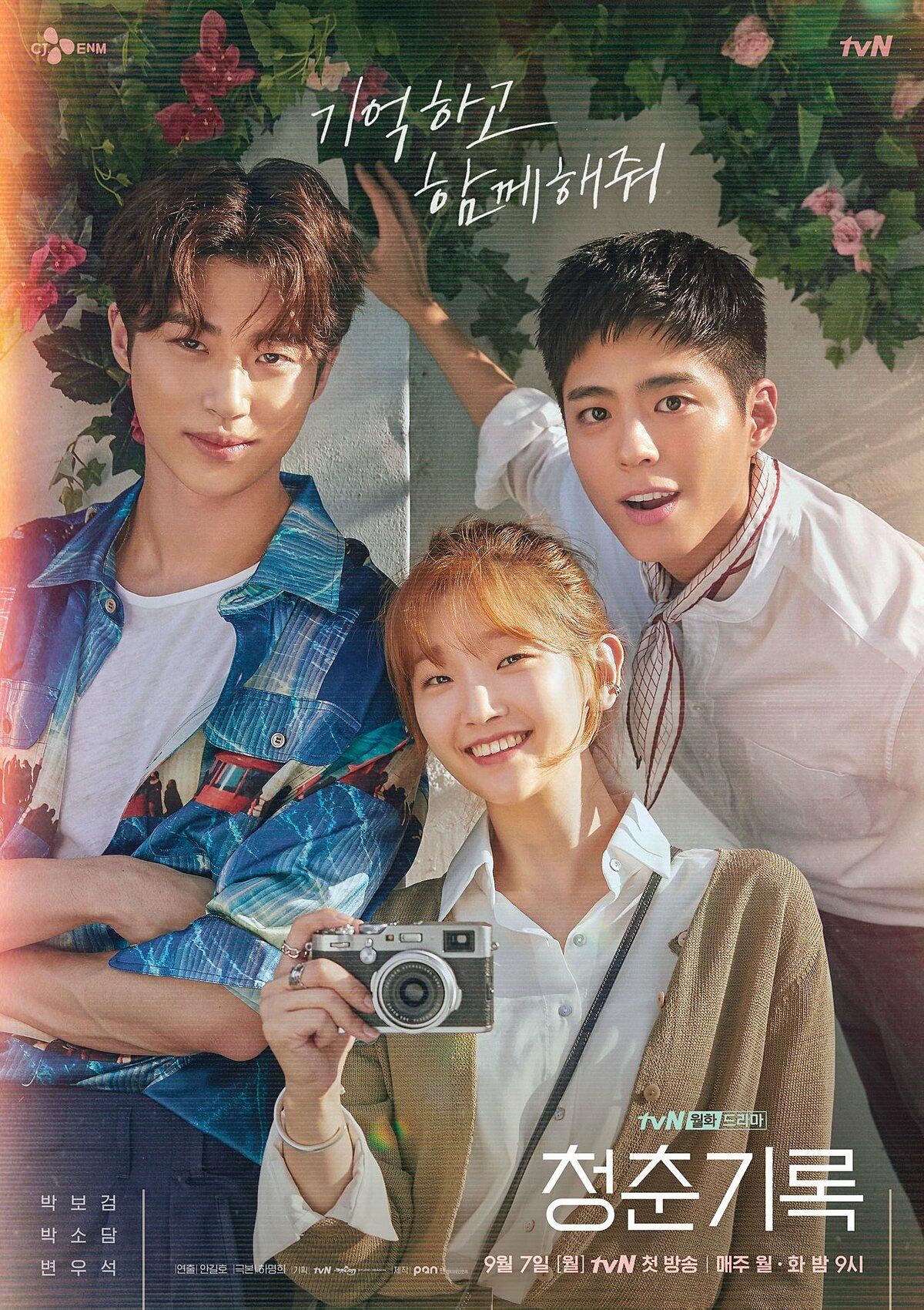 Nhan sắc Park Bo Gum nổi bật trên poster phim mới Record of Youth