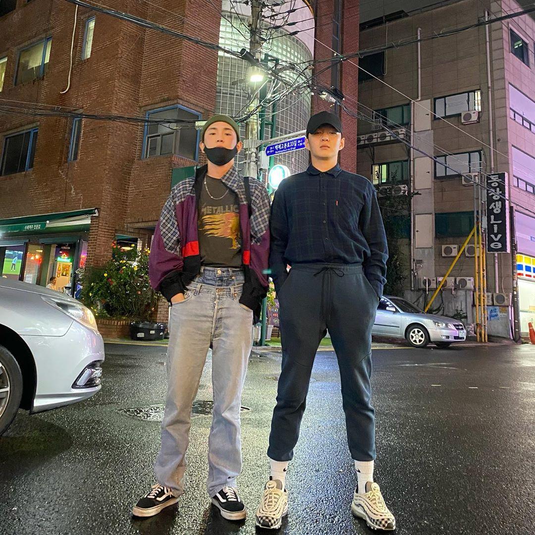 Key (SHINee) và Chang Sub (BTOB) tạo thành bộ đôi cool ngầu.