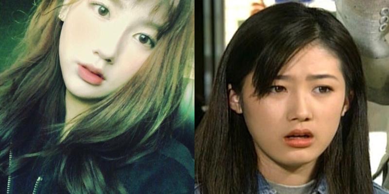 Netizen cho rằng Mi Yeon có nét đẹp đậm chất Hàn Quốc, khí chất thanh tú gợi nhớ đến Shim Eun Ha. Trong một bức ảnh predebut (trái), Mi Yeon rất giống nữ diễn viên Shim Eun Ha thời tuổi 20.