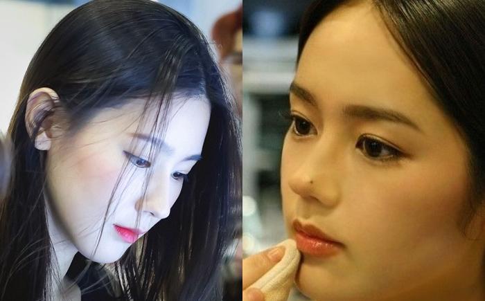 Chiếc mũi cao là điểm nhấn trên gương mặt Mi Yeon.