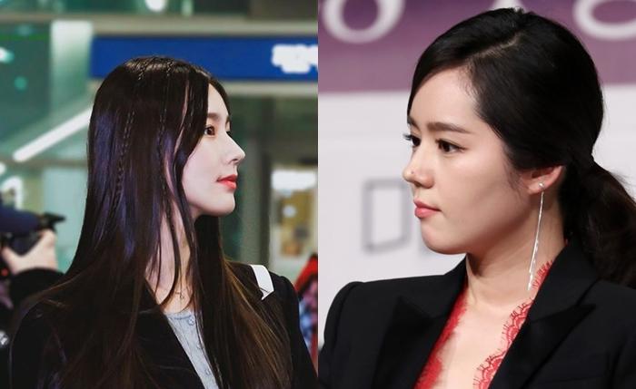 Mũi của Mi Yeon cao, đầu mũi thon gọn giống với hình dáng mũi Han Ga In.