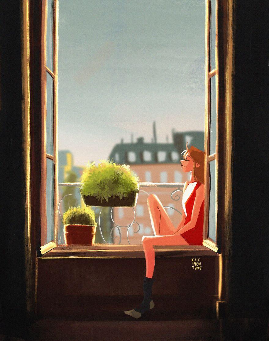 Tận hưởng khoảnh khắc bình yên bên khung cửa sổ vốn luôn đóng kín vì ta mải chạy đua với cuộc sống ngoài kia.