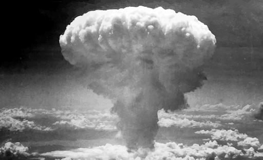 Mây hình nấm sau vụ nổ bom nguyên tử ở Nagasaki, Nhật Bản, ngày 9/8/1945.