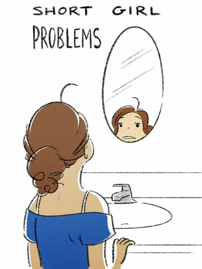 Soi gương nhưng rướn mãi cũng chỉ thấy mỗi cái mặt.