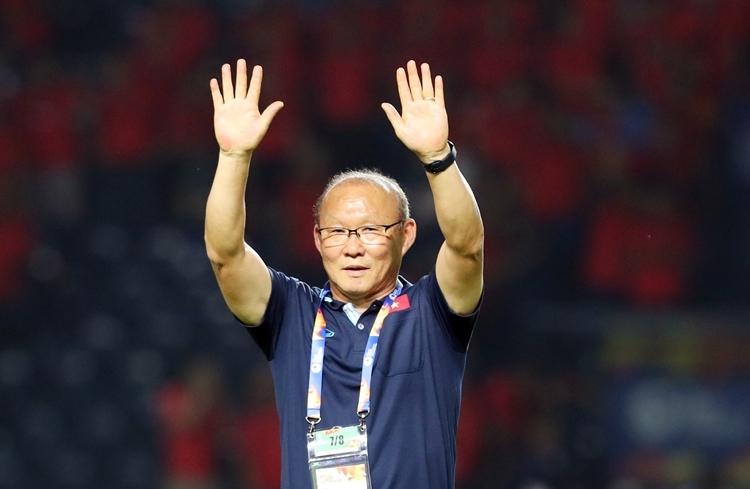 HLV Park Hang-seo trong một trận đấu vòng loại World Cup 2020 khu vực châu Á. Ảnh: Đức Đồng.