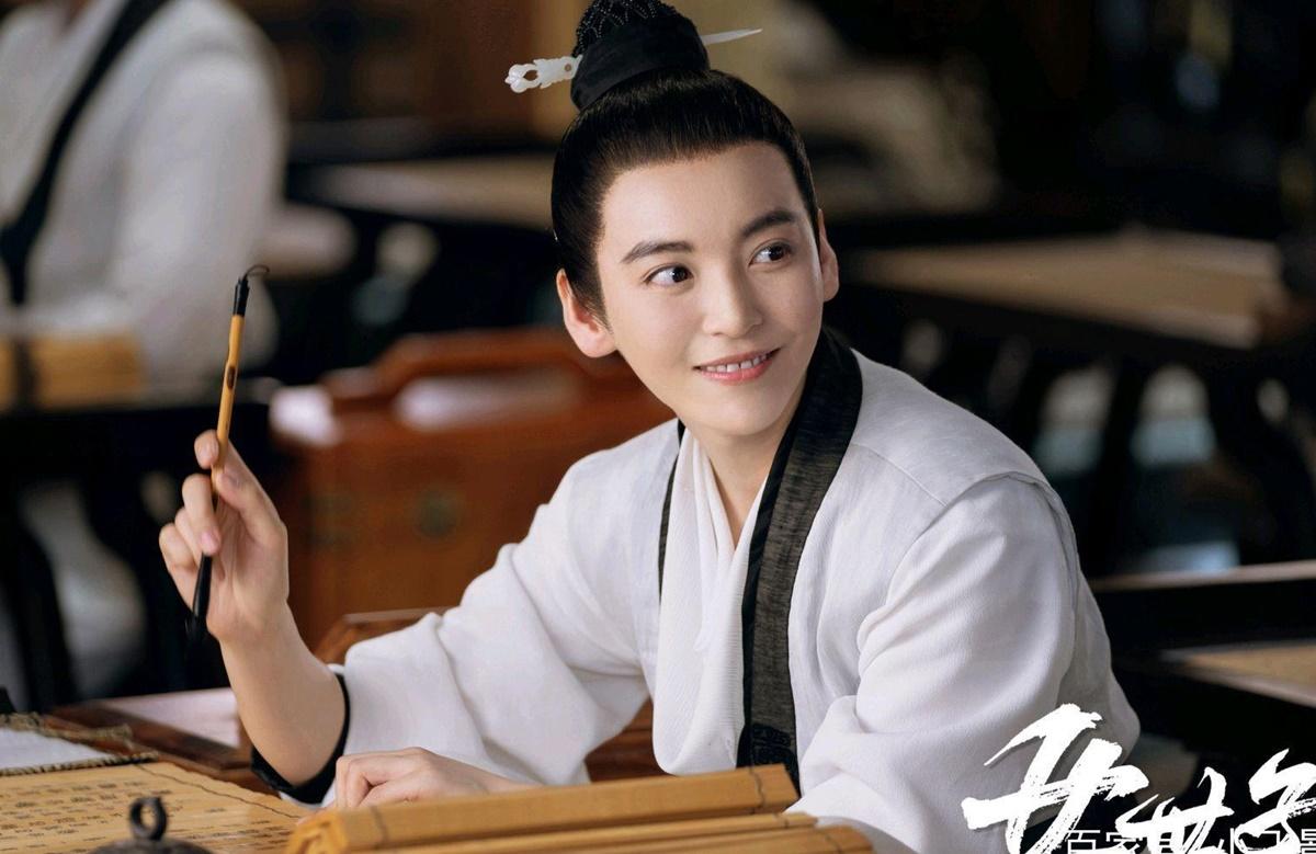 Tạo hình giả trai của Vưu Tĩnh Như trong phim.