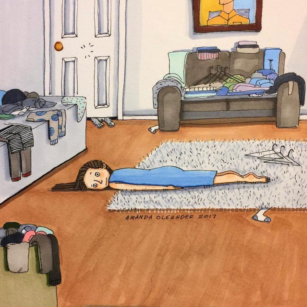 Mỗi khi muốn dọn dẹp, bạn cảm thấy rất lười vận động. Cuối cùng cũng không có quần áo sạch để mặc.
