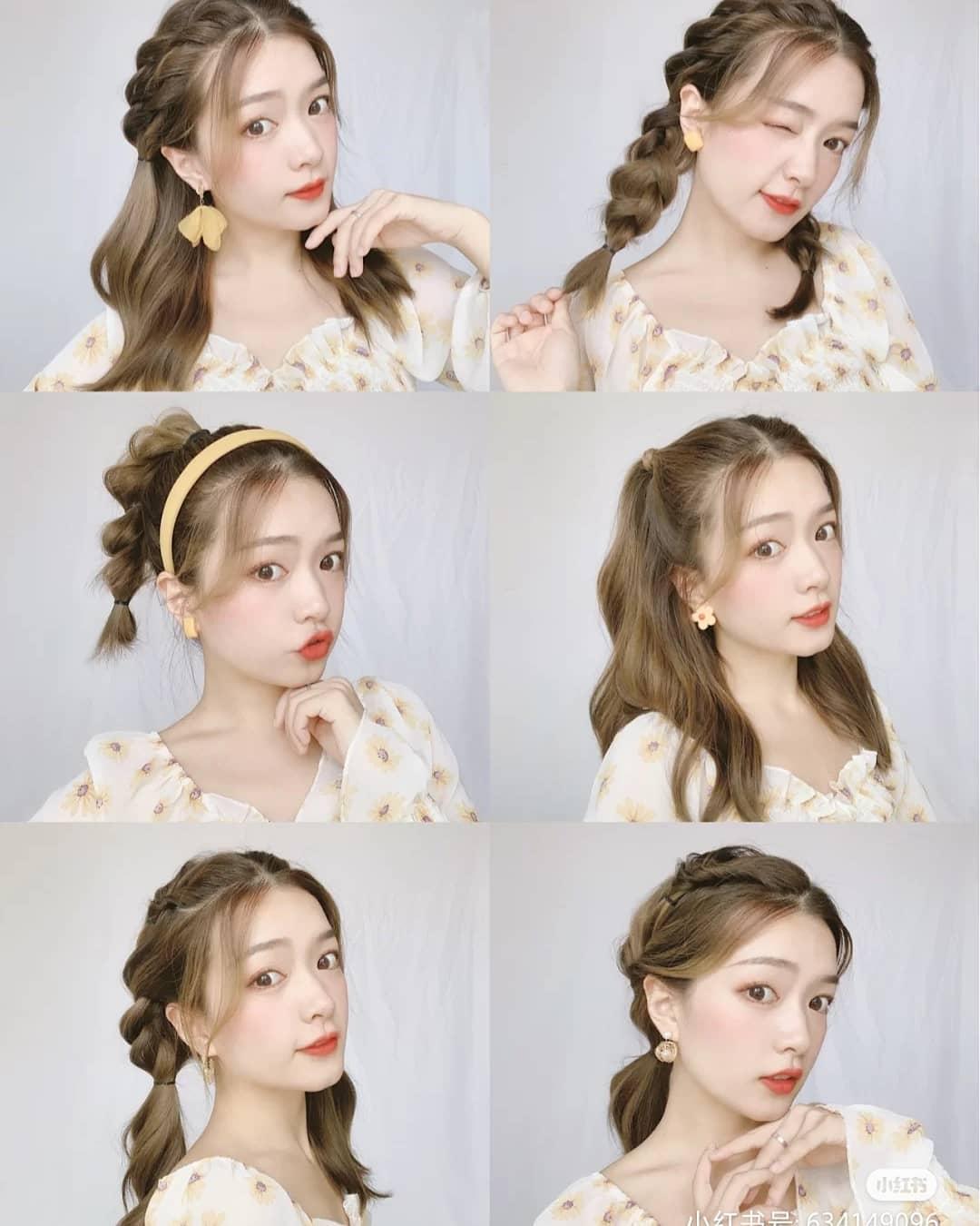 Các cô gái tóc dài có vô vàn cách tạo kiểu để làm duyên khi đến trường. Phù hợp nhất với các teen girl là những kiểu tóc tết đôi, tết ba, tết đuôi sam. Kiểu tóc vừa tết vừa buộc nửa cũng giúp gương mặt thêm rạng ngời, tươi tắn. Khi tạo những kiểu tóc này, bạn có thể dùng máy uốn nhẹ phần đuôi để giúp tóc thêm bồng bềnh.