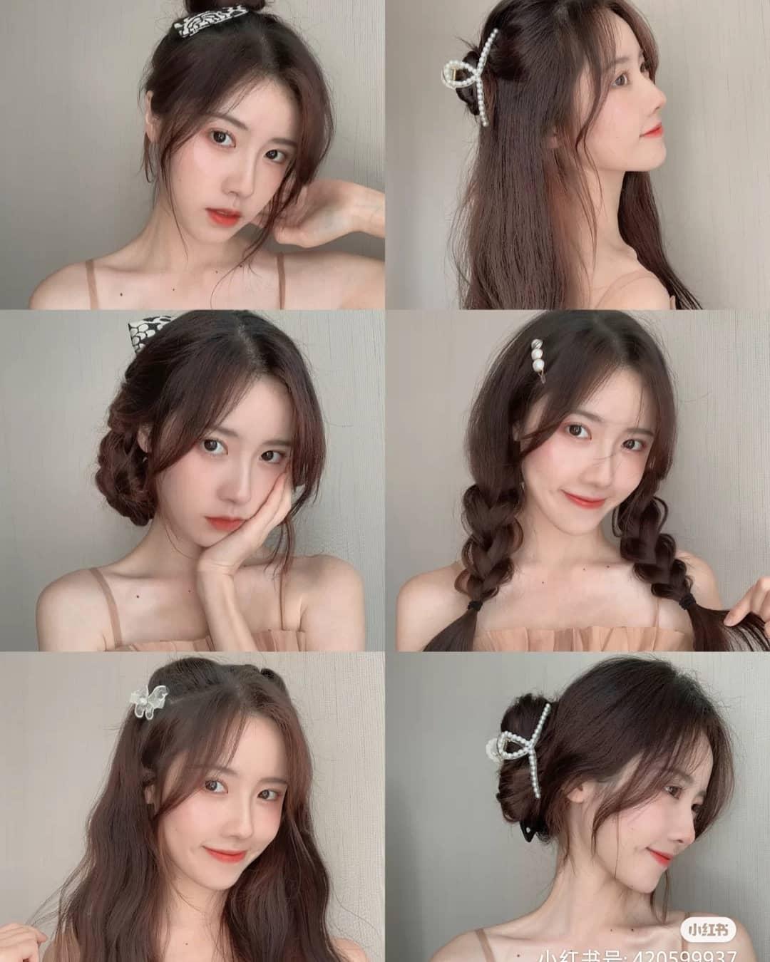 Những kiểu tóc đơn giản trông sẽ duyên dáng, bắt mắt hơn hẳn khi các cô gái kết hợp cùng phụ kiện tóc. Những chiếc kẹp ngọc trai, kẹp nơ, bươm bướm... sẽ giúp gương mặt của bạn thêm xinh xắn, thời thượng.