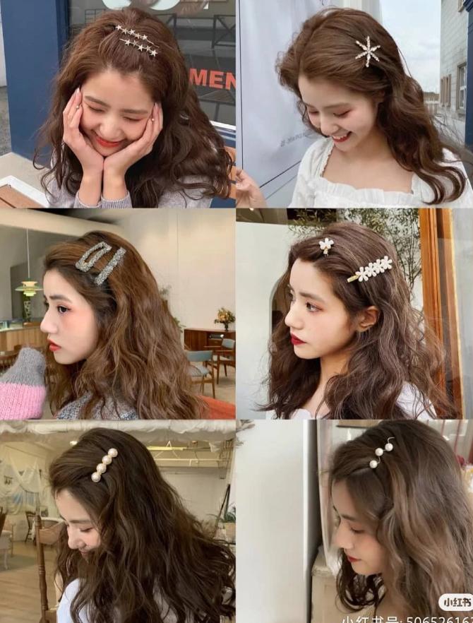 Những ngày lười tạo kiểu cho tóc, bạn chỉ cần sử dụng một chiếc kẹp mái nổi bật là đã đủ thu hút mắt nhìn.