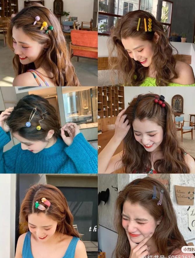Xu hướng năm nay là các kiểu kẹp tóc hoặc sang chảnh như đính ngọc trai, đá lấp lánh, hoặc dễ thương với họa tiết sáng tạo, màu sắc rực rỡ bắt mắt. Bạn cũng có thể dùng một lúc vài chiếc kẹp tóc cùng kiểu để mái tóc thêm ấn tượng.