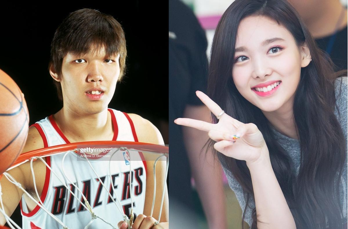Na Yeon nhiều lần bị ghép ảnh so sánh với gương mặt cầu thủ bóng rổ Ha Seung Jin.