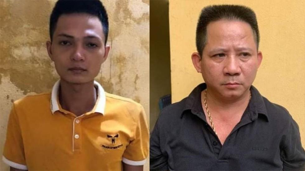 Hai bị can Lăng Văn Vân và Nguyễn Văn Thiện.