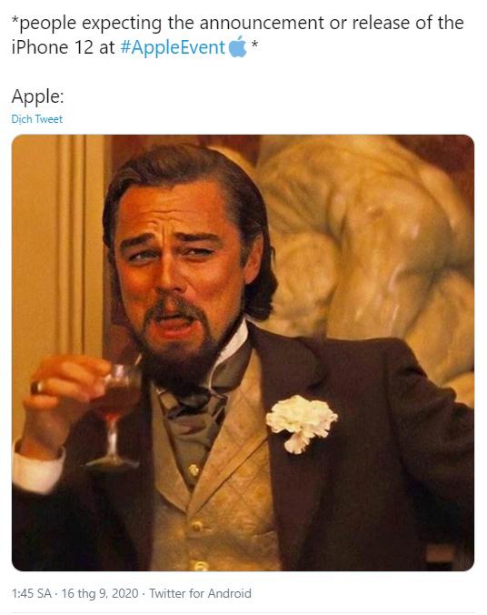 Mọi người hào hứng chờ đợi thông báo hoặc sự kiện phát hành của iPhone 12 ở sự kiện Apple.Quả táo tặng ngay một cú lừa.