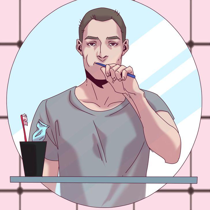 Để bàn chải đánh răng ở nhà người yêu: 6 tháng.
