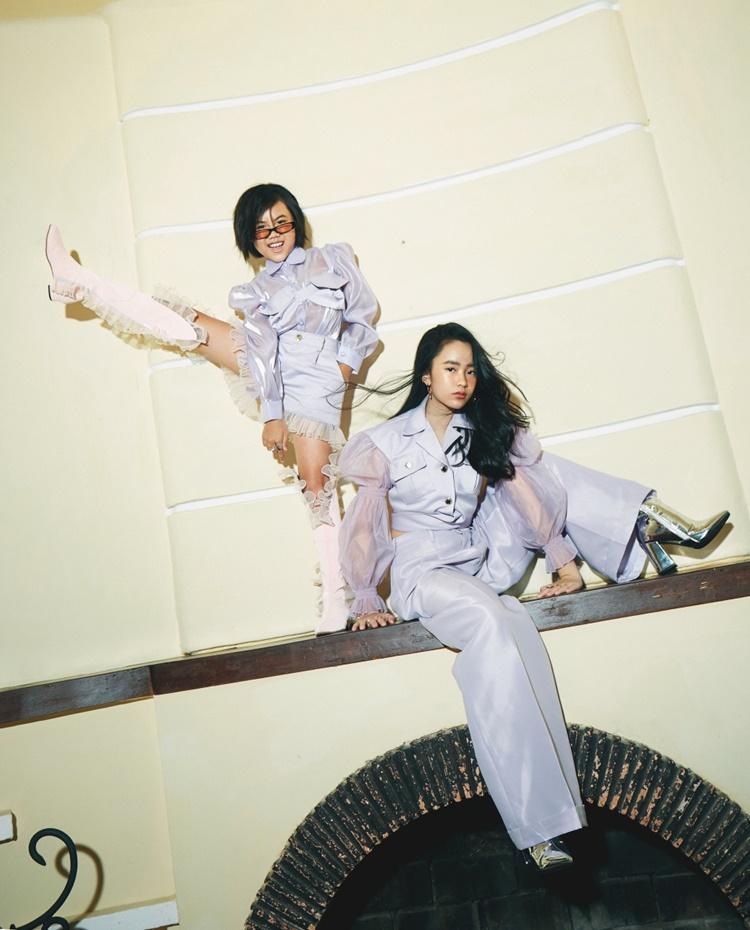Hai mẫu nhí có cùng đam mê thời trang, catwalk, thích nghe nhạc K-pop, học nhảy.