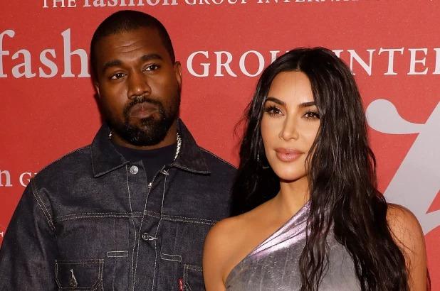 Kim và Kanye West. Ảnh: WireImage.