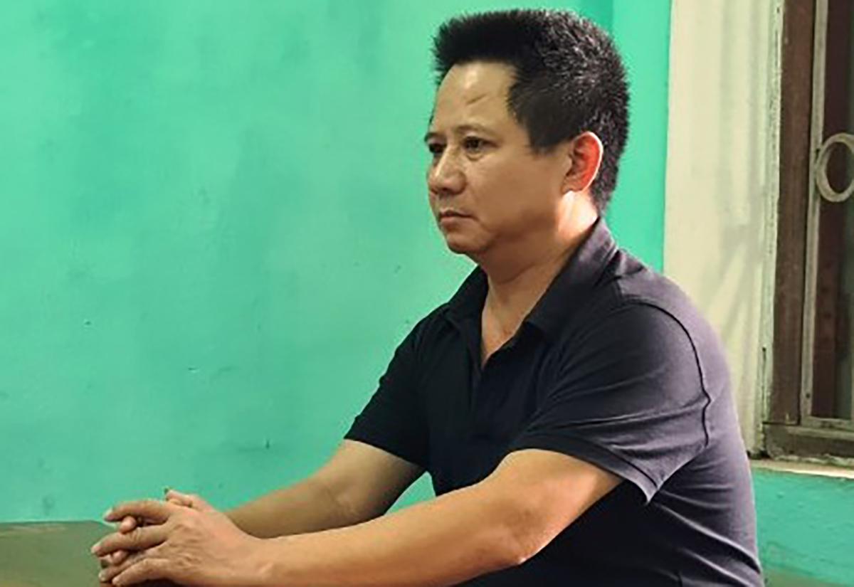 Nguyễn Văn Thiện tại cơ quan điều tra. Ảnh: VKSND Bắc Ninh.