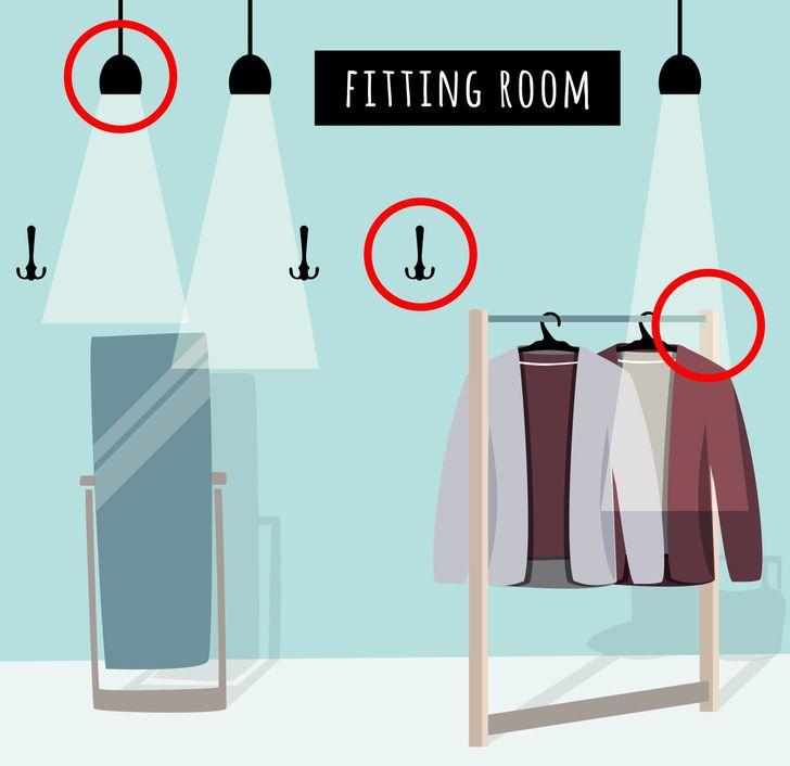 5 cách kiểm tra có camera ẩn trong phòng thử đồ không - 1