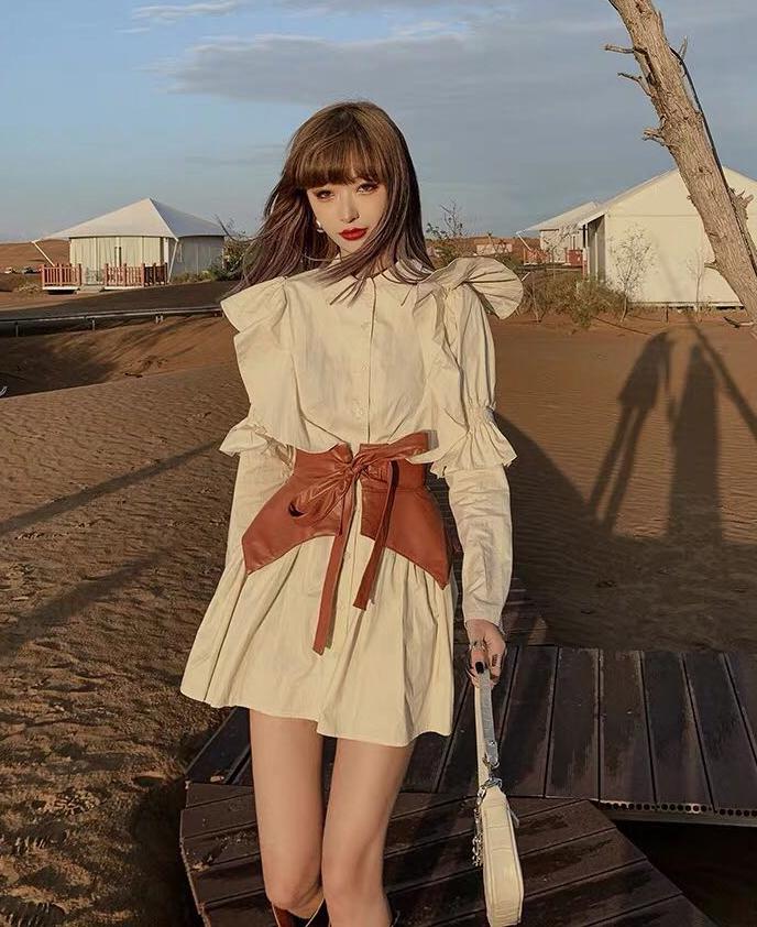 Với kiểu dáng điệu đà đi kèm thắt lưng mạnh mẽ, váy có thể chinh phục được từ những cô nàng bánh bèo cho đến các quý cô hiện đại, cá tính.