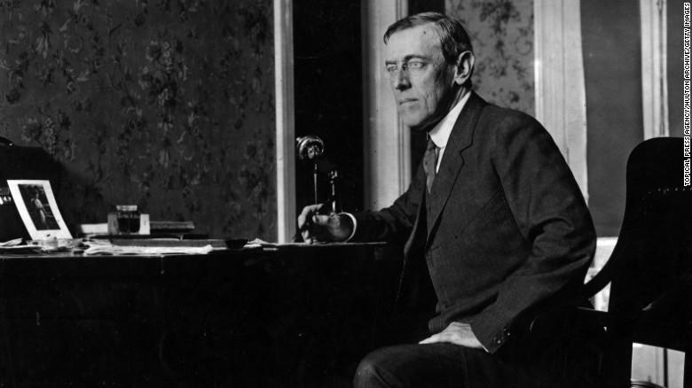 Woodrow Wilson, Tổng thống Mỹ từ năm 1913 đến năm 1921.