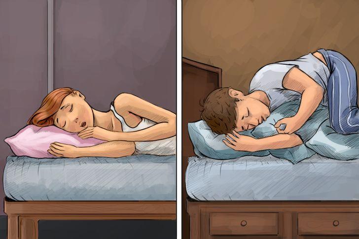 Có một kiểu người ngủ không cần ôm gối, kiểu còn lại phải có gối ôm mới ngủ được.