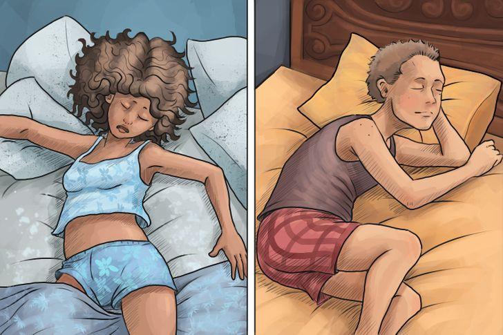 Những người di chuyển nhiều trong lúc ngủ với những người nằm nguyên một tư thế.