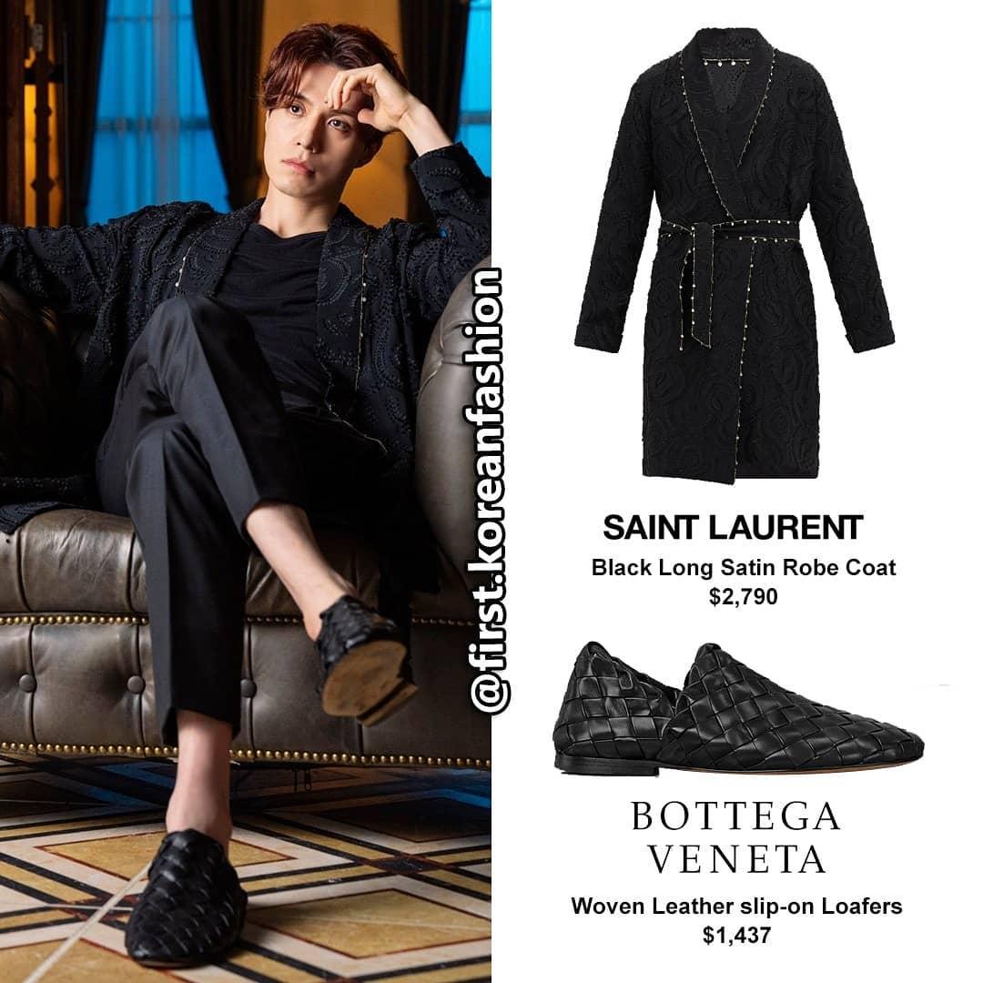 Trong một phân cảnh, Lee Dong Wook diện set đồ hơn 4000 USD. Gồm áo khoác của Saint Laurent có giá 2790 USD và giày của Bottega Veneta có giá 1437 USD. Ảnh: firstkoreanfashion.