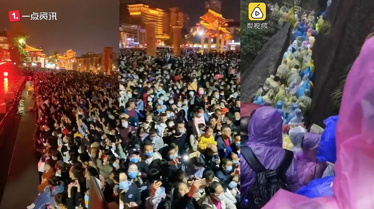 Những hình ảnh chia sẻ trên mạng cho thấy người dân đổ xuống đường.