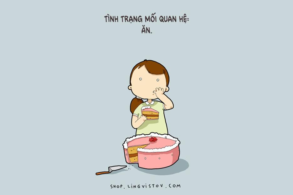 Sống mà không có bạn trai thì cũng buồn, nhưng sống mà không có đồ ăn còn buồn hơn.